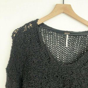 Free People Sunday Shore Sweater XS Black Pullover